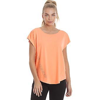 Camille Ex Decathlon Womens levendige oranje Short Sleeve Sport T-Shirt