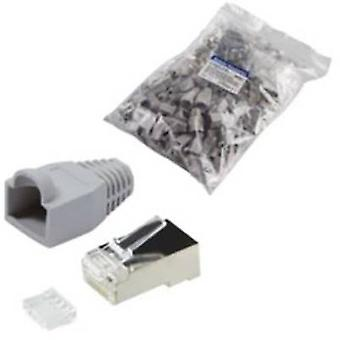N/A Plug, straight MP0021 Grey LogiLink
