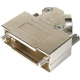 D-SUB housing Number of pins: 15 Metal 45 ° Silver