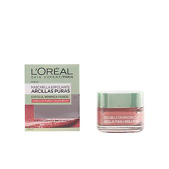 L'oreal Make Up Mascarilla Arcilla Roja Exfolia Y Minimiza Poros 50ml Unisex New