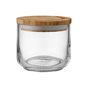 Ladelle Stak Glass Clear Canister, 9cm