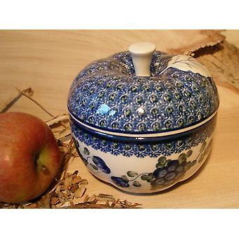 Bratapfel, Ø 12 cm, 12 cm hoch, Tradition 9 boleslawiec aardewerk - BSN 2565