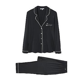 Bamboo Long Trouser Pyjama Set Black