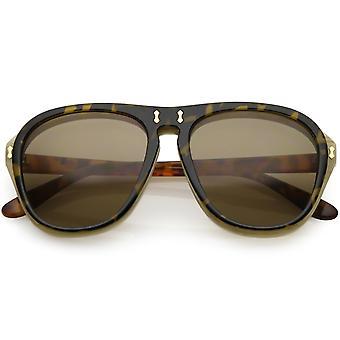 Mäns två tonas Flip-Up Aviator solglasögon neutralt färgade linsen 55mm