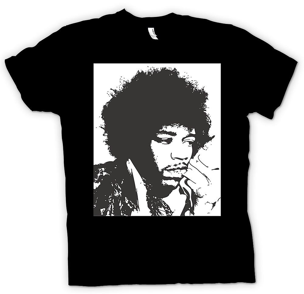 Womens T-shirt - Jimi Hendrix - BW - Rock Blues