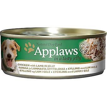 Applaws hund kan mad kylling med lam i gelé