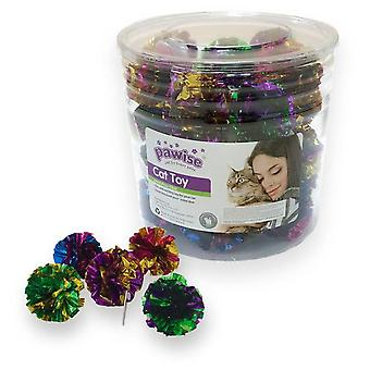 Pawise Cube Toys Paws Cat-Crinkle Ball 24 Pieces  (Cats , Toys , Balls)