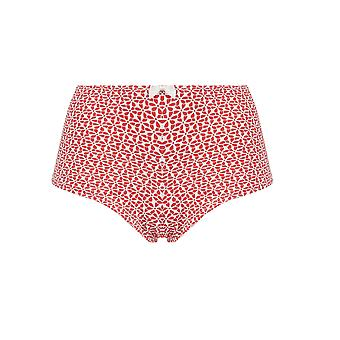 Guy de France 82523-181-052 Women's Red Geometric Knickers Panty Brief