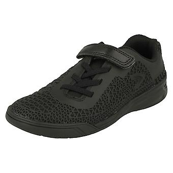 Boys Clarks Sports Trainers Award Blaze - Black Synthetic - UK Size 10.5G - EU Size 28.5 - US Size 11W