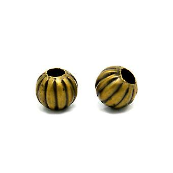 Packet 20 x Antique Bronze Plated Iron 6mm Plated Round Spacer Beads HA15225