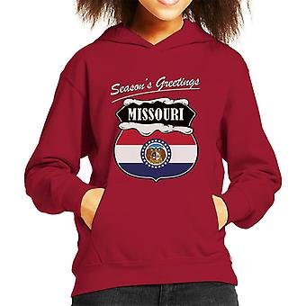 Seasons Greetings Missouri Kid's Hooded Sweatshirt