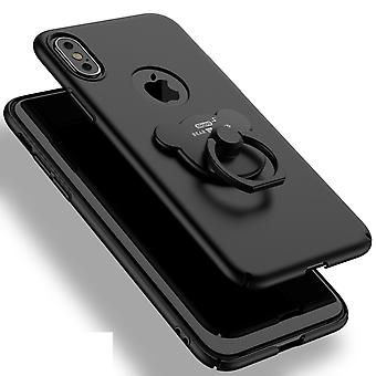 Matte black shell with grip-ring to the iPhone X!
