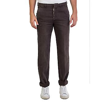 Prada Men's Relaxed Fit Brown Jeans Pants