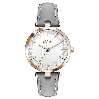 s.Oliver women's watch wristwatch leather SO-3451-LQ