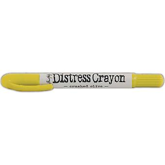 Tim Holtz Distress Crayons-Crushed Olive