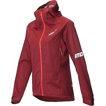 AT/C Raceshell Full Zip Womens Running Jacket Dark Red/Coral
