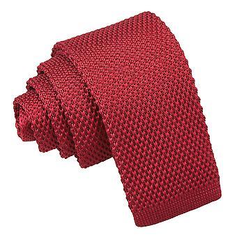 Bordowy sweter krawat dla chłopców