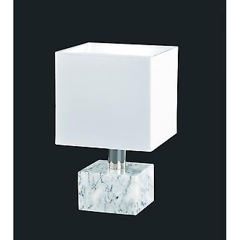 الثلاثي الإضاءة الحديثة دايتونا مصباح طاولة رخام أبيض