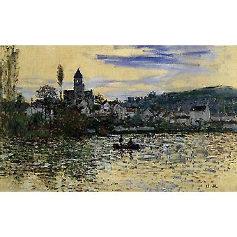 The Seine at Vetheuil, Claude Monet, 40x60cm with tray
