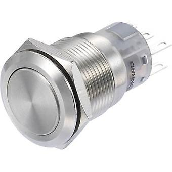 TRU COMPONENTS LAS1-AGQ-22/S Pushbutton switch 250 V AC 3 A 2 x On/(On) IP65 momentary 1 pc(s)