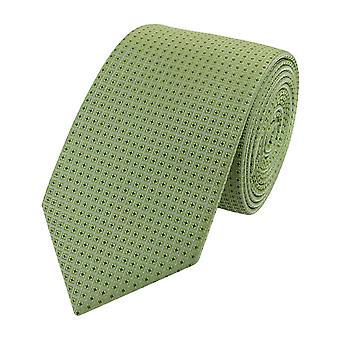 Tie binde bånd knyttes smale 6cm pistachio av uni Fabio Farini
