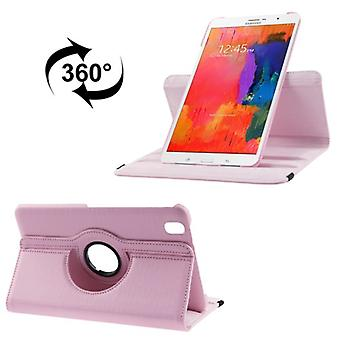 PU cover lade ash (flip Kruis) voor Samsung Galaxy tab Pro 8.4 / T320 Rosa