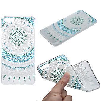 Cubierta de la henna para Xiaomi Redmi 4 silicona de funda protectora azul sol