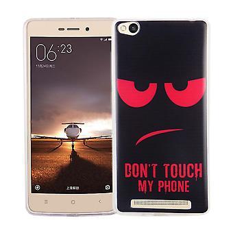 Mobiele zaak voor Xiaomi Redmi 3 cover case beschermende zak motief slim TPU + armor bescherming glas 9 H niet raken mijn telefoon rood