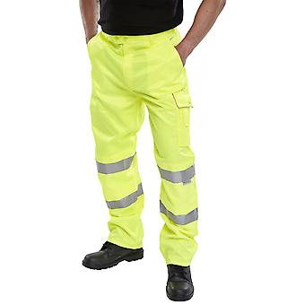Click Poly Cotton Hi Vis Trousers En471 Class 1 Yellow - Pctensy