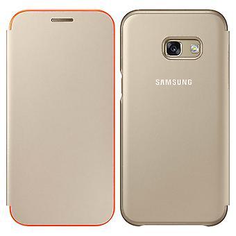 Officiel Samsung Neon Flip couverture pour Samsung Galaxy A5 2017 - or
