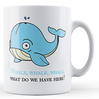 Decorative Writing Whale, What Do We Have Here - Printed Mug