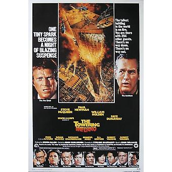 The towering Inferno posters Steve McQueen, Paul Newman, William Holden