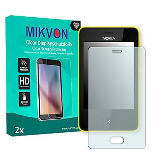 Nokia Asha 501 Dual SIM Screen Protector - Mikvon Clear (Retail Package with accessories)