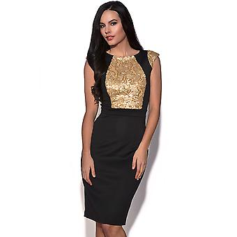 Little Mistress Sequin Embellished Dress