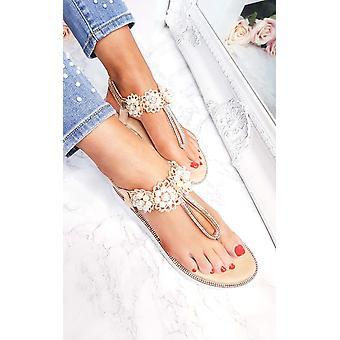 IKRUSH женские Aviana жемчужина украшен вклинивается сандалии