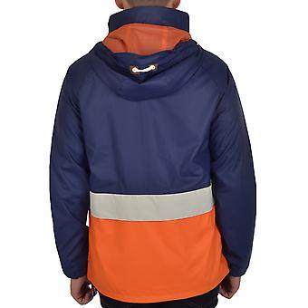 Puffa Mens Senna Full Zip Hooded 3 Tone Casual Lightweight Rain Coat Mac Jacket