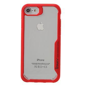 IPAKY iPhone 7 TPU Hybrid Shell-rød