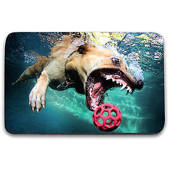i-Tronixs - Underwater Dog Printed Design Non-Slip Rectangular Mouse Mat for Office / Home / Gaming - 5
