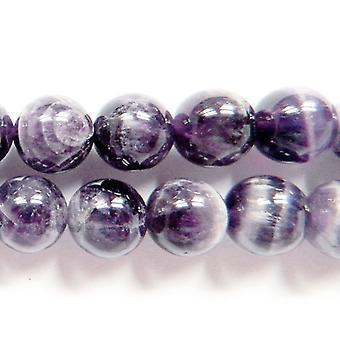 62 + lila/grau Chevron Amethyst 6mm einfache Runde Perlen GS1255-1 Strang
