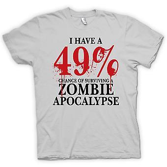Męskie KOSZULKA-Apokalipsa Zombie 49% - komedia Horror
