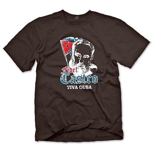Mens T-shirt - Fidel Castro Viva Cuba - Communism