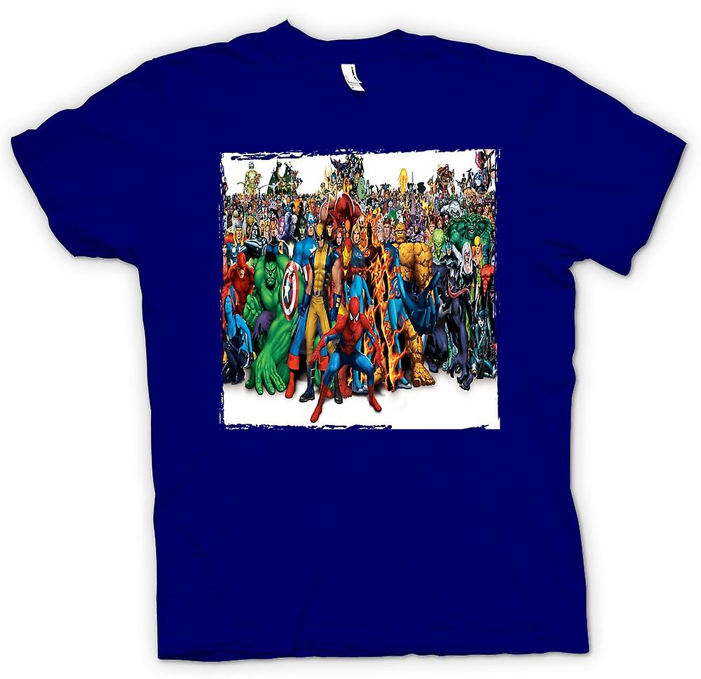 Herren T-Shirt - Marvel Comic Hero Group - Portait