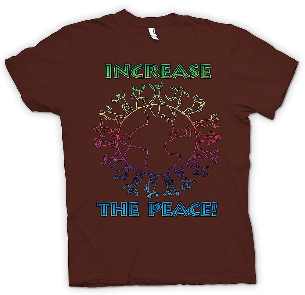 Heren T-shirt - verhoging van de vrede - Anti-oorlog
