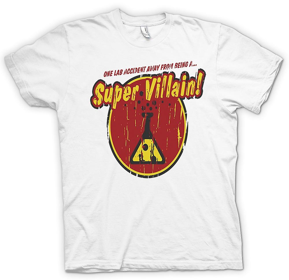 Mens T-shirt - One Lab Accident Away From Being A Super Villain - Funny Quote