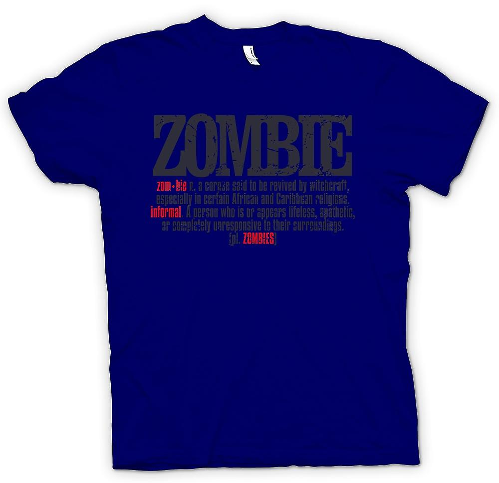 Mens T-shirt - Zombie Defination - cooles Design