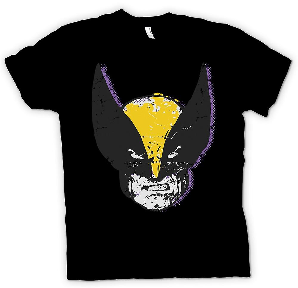 Mens T-shirt - Wolverine Pop-Art Face - Xmen inspiriert