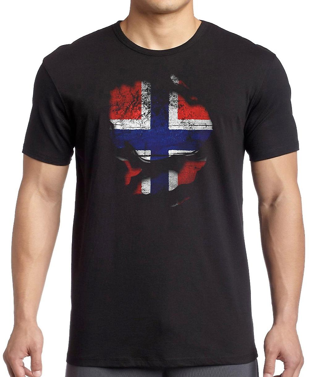 Norway Norwegian Ripped Effect Under Shirt Kids T Shirt