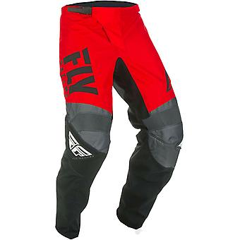 Fly Racing Red-Black-Grey 2019 F-16 Kids MX Pant