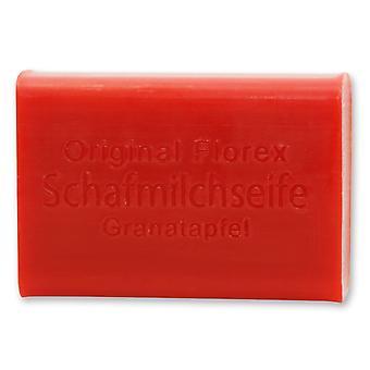 Florex Schafmilchseife - Granatapfel - angenehmer fruchtiger Duft des Granatapfels 100 g