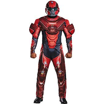 Spartan Halo Costume Red For Adults